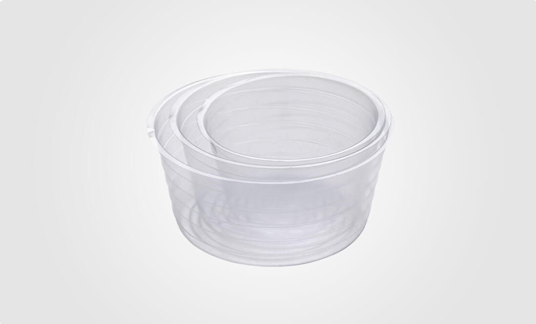 clear plastic planter liners
