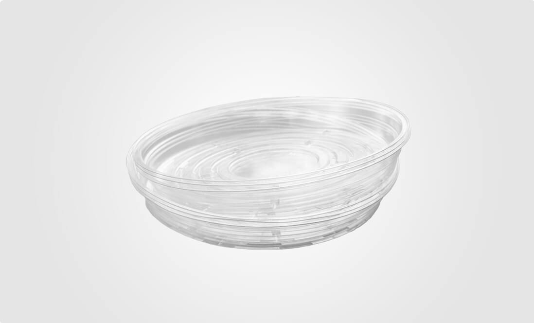 clear plant saucers