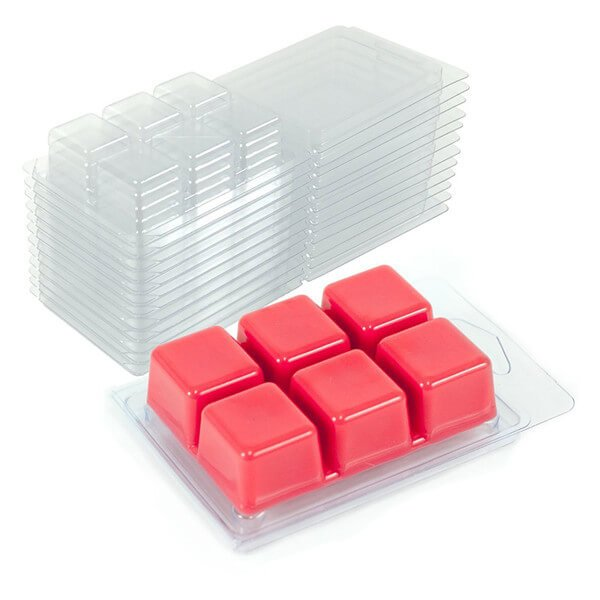 6 cavity wax melts clamshell