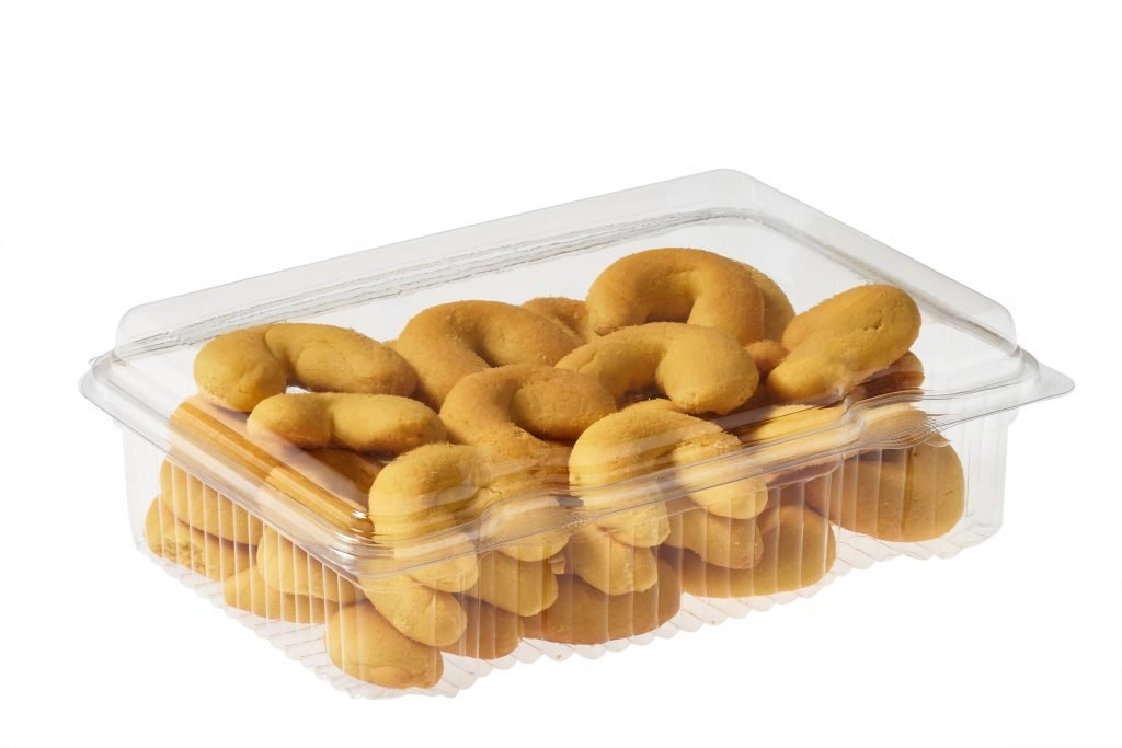Plastic cookie trays with lids
