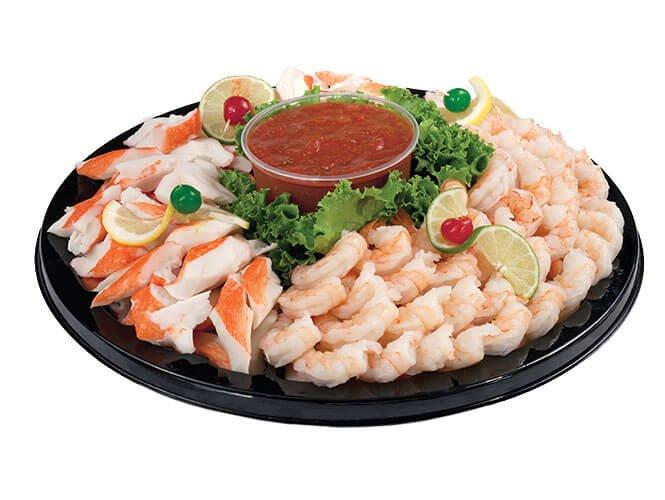 plastic seafood tray-1