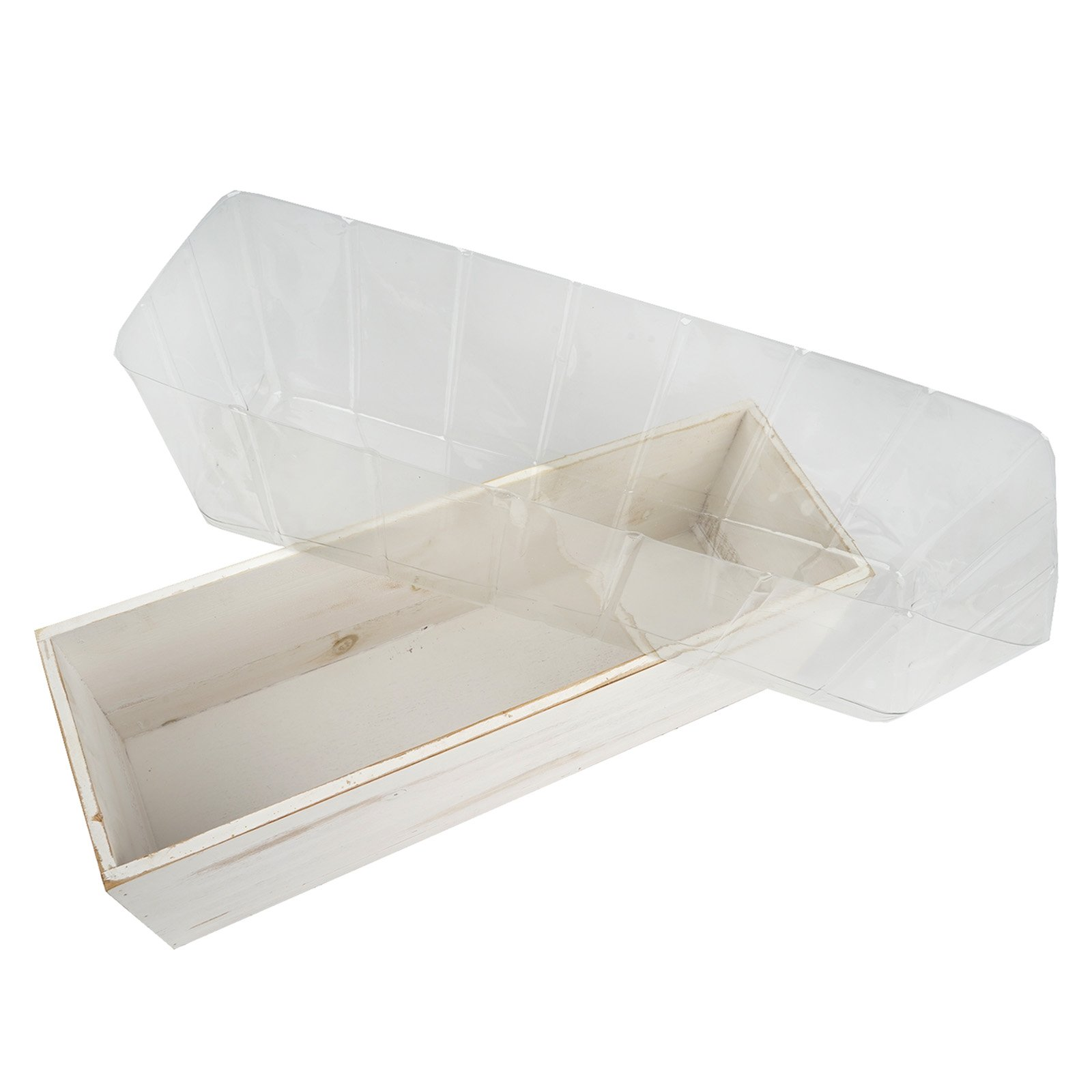 Clear plastic planter liner