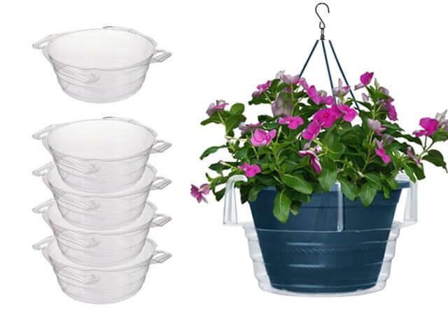 Hanging basket drip pan-1