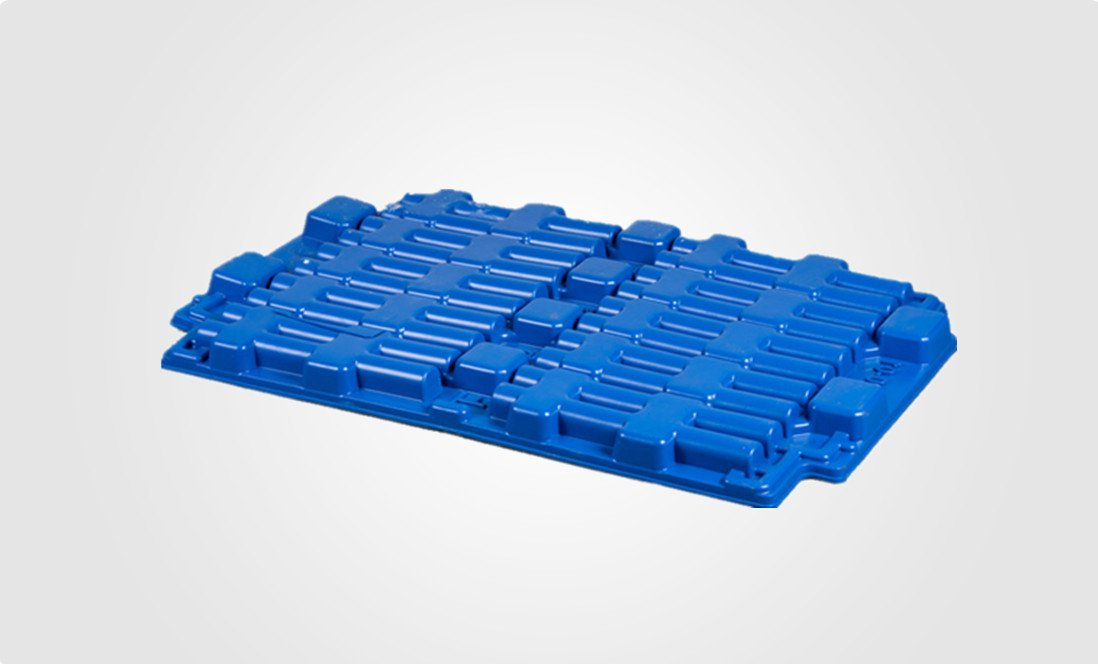 industrial plastic tray-blue