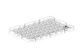 plastic industrial tray design drawing