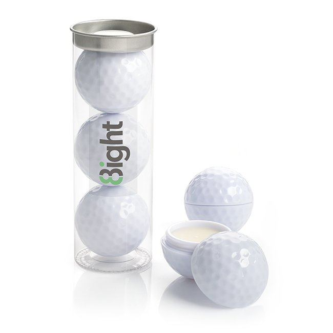 clamshell container and tube for golf ball